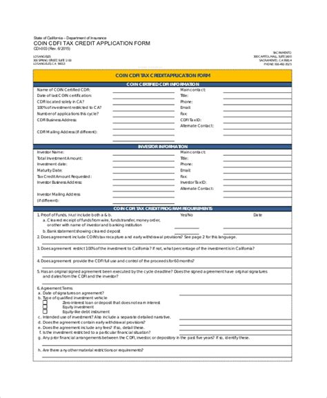 sle credit application form 8 documents in pdf word