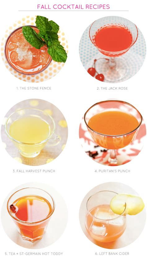 fall mixed drinks fall cocktail recipes