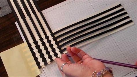 paper weave scrapbook technique youtube