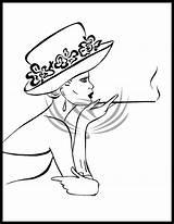 Hat Deviantart Fabric Designs Painting Drawing Foil Diy Doodle sketch template