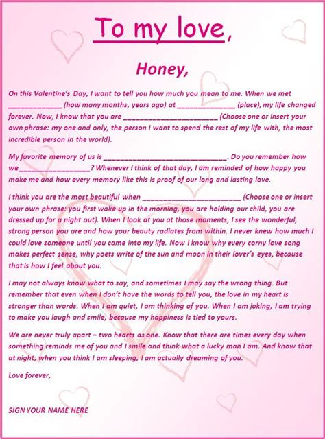 romantic  love letters  word templates love