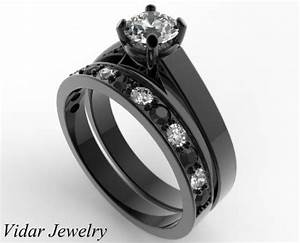 unique alternating black and white diamond wedding ring With black and white diamond wedding ring sets