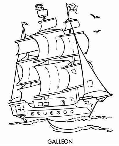 Pirate Ship Coloring Pages Drawing Cartoon Sheets