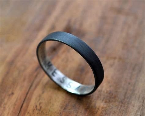 s oxidized secret message ring custom sted