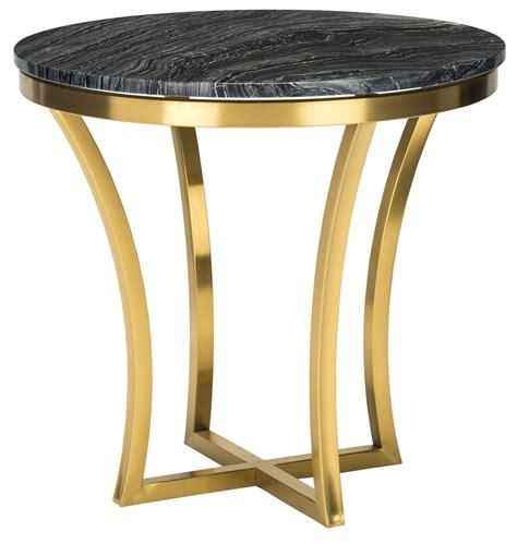 gold end table gold black side table hgna295 nuevo 4876