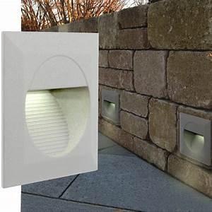Led Lichtleiste Außen 230v : led wandeinbauleuchte treppenleuchten mini j02 230v ip65 wei au en innen ebay ~ Buech-reservation.com Haus und Dekorationen