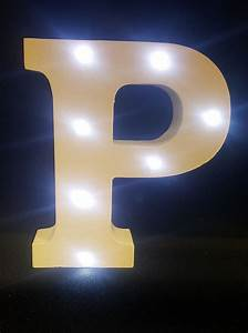 buy wooden led light up letter white p from chair cover With light up letters to buy