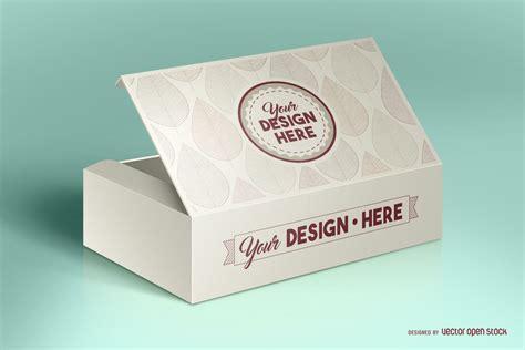 Mockup de presente em psd editável com fundo variável. Box packaging mockup PSD - Vector download