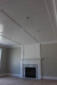 Beadboard Recess Panel Ceiling Custom Home Finish