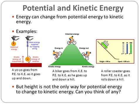 potential kinetic energy ppt kinetic energy exles gallery resume cover letter exles