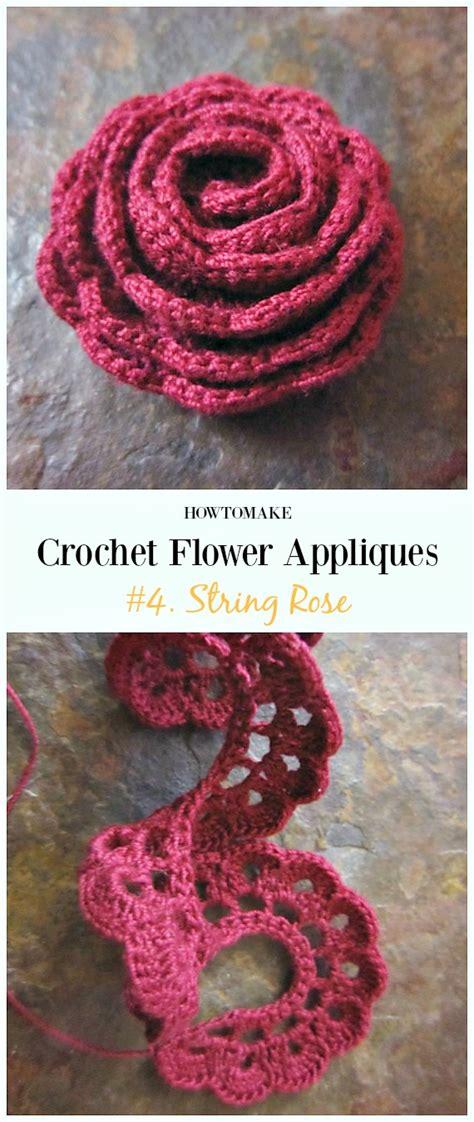 easy crochet flower appliques  patterns  beginners