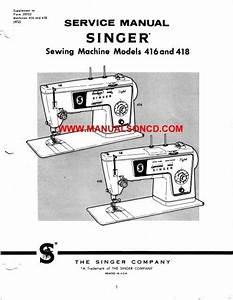 Singer 416 418 Sewing Machine Service Manual