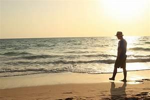 Man walking alone on beach public domain free photos for ...