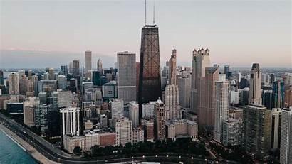 Chicago Usa Buildings Skyscrapers Water Wallpapers Desktop