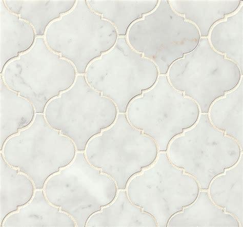 arabesque mosaic tile bedrosians marble mosaics white carrara arabesque mosaic polished new