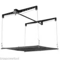 4 x 4 ft cable lift garage ceiling storage rack platform
