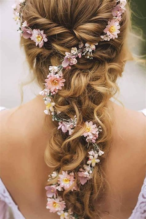 30 unforgettable wedding hairstyles with flowers my stylish zoo
