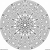 Coloring Geometric Pages Mandala Complicated Kaleidoscope Popular sketch template