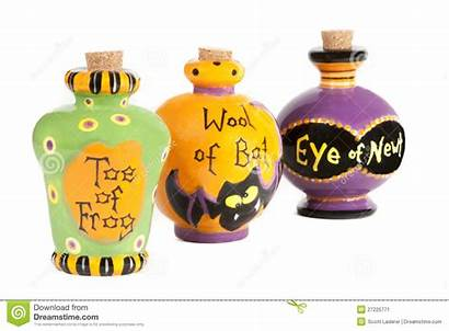Potion Ingredients Halloween Ceramic Containers Royalty Dreamstime