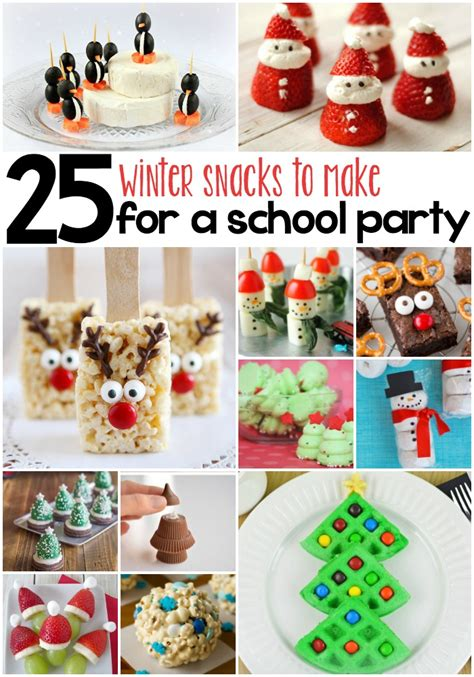 whimsical winter snacks  kids