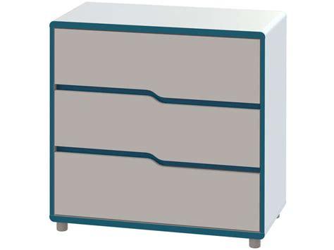 chambre moby commode moby coloris blanc et bleu vente de commode
