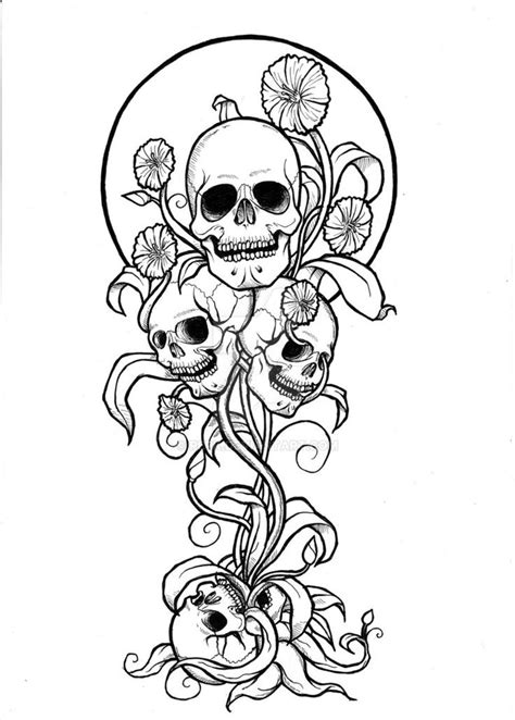 Pin by Priscila Rufatto on Tattoos | Skull coloring pages