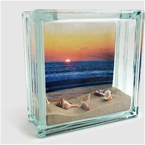 photo fillable glass block found at craft stores ruler