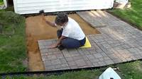 how to build a patio with pavers Building a paver patio and firepit - YouTube