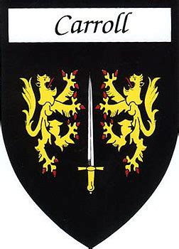 family  stickers carroll coat  arms
