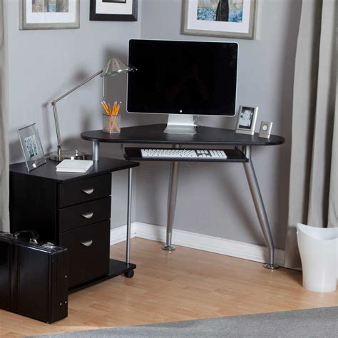 narrow computer desk computer desk for small spaces decofurnish