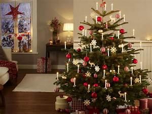 Geschmückte Weihnachtsbäume Christbaum Dekorieren : festlich wir dekorieren den christbaum ~ Markanthonyermac.com Haus und Dekorationen
