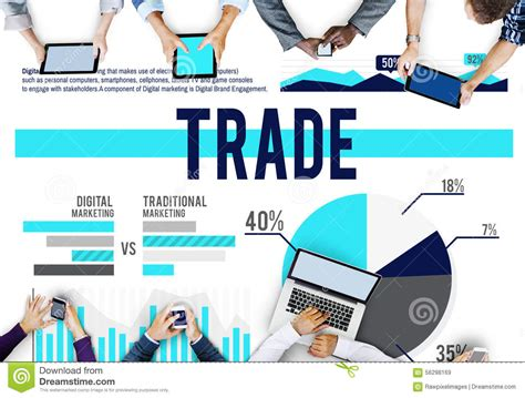 trade market trade marketing commerce stock market sales concept stock