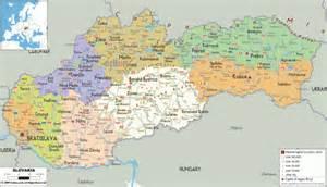 Political Map of Slovakia
