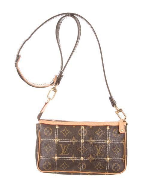 louis vuitton monogram pochette riveting crossbody bag handbags lou  realreal