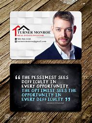 real estate investor business card designs - Real Estate Business Card Ideas