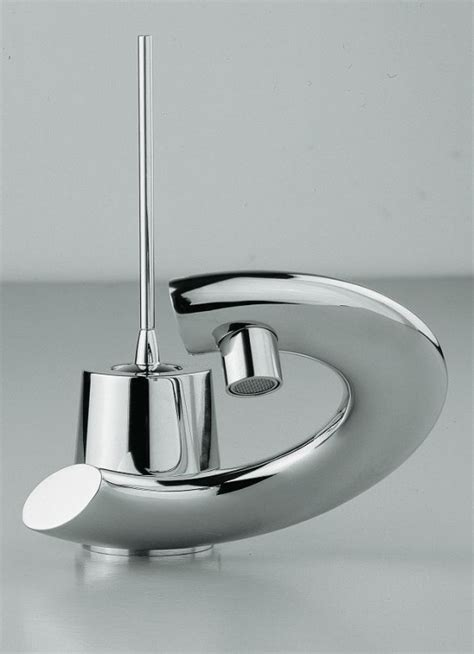 modern bathroom faucets  curved levers embrace