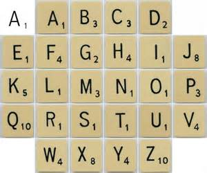 scrabble tiles fonts and on