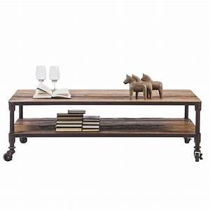 Table Basse En Fer Forgé : table basse montana en pin massif et fer forg de style industriel ~ Teatrodelosmanantiales.com Idées de Décoration