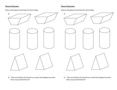 planes of symmetry worksheet planes of symmetry worksheet by jane141 teaching