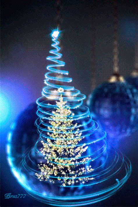 animated blue christmas ornaments pictures