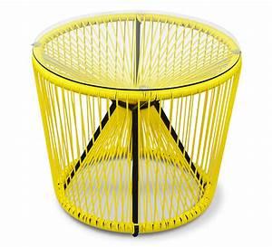 Table Basse Salon De Jardin : table basse de jardin fil jaune 55cm rio 85 salon d 39 t ~ Teatrodelosmanantiales.com Idées de Décoration