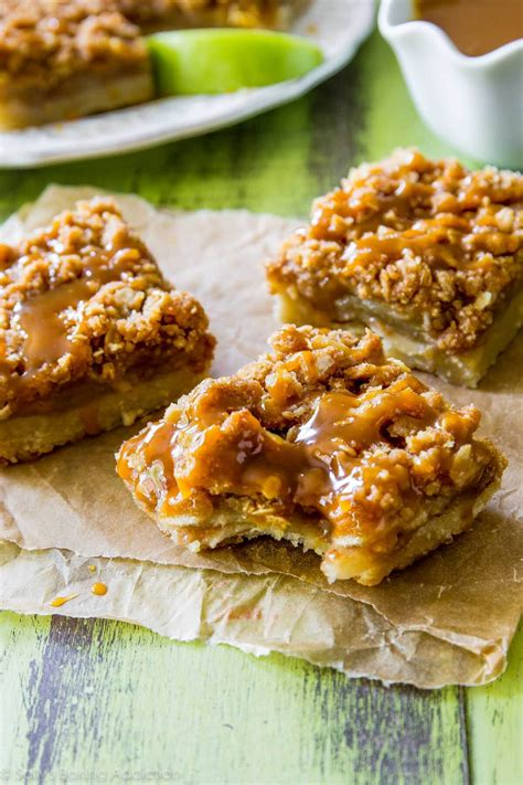 Salted Caramel Apple Pie by Salted Caramel Apple Pie Bars Sallys Baking Addiction