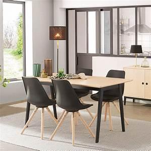 Chaises Scandinaves Noires : quelles chaises marier une table en bois 20 id es d co blog but ~ Teatrodelosmanantiales.com Idées de Décoration