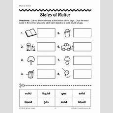 Free Printable Phases Of Matter Worksheets  Click Here Statesofmatterpdf To Download The