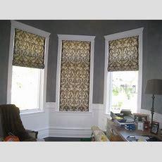 Flat Roman Shades Inside Mount  Window Treatments