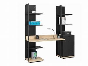 Bureau Avec étagère : bureau avec etagere ~ Carolinahurricanesstore.com Idées de Décoration