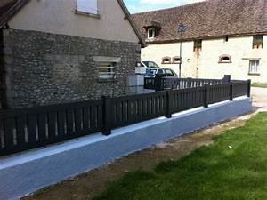 Muret De Cloture : cl ture barreaud e gris anthracite avec lames verticales ~ Melissatoandfro.com Idées de Décoration