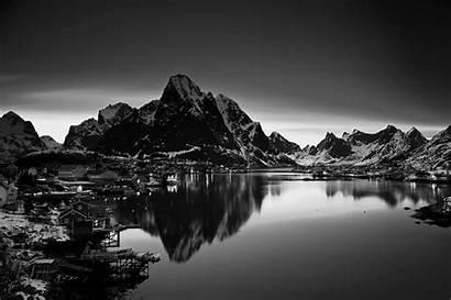 Mountain Landscape Norway Monochrome Desktop Wallpapers Resolution