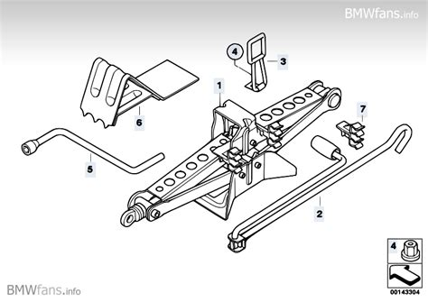 Car Tool/lifting Jack Bmw X3 E83, X3 2.5i (m54)