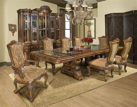luxury walnut dining room set p table wextension benetti